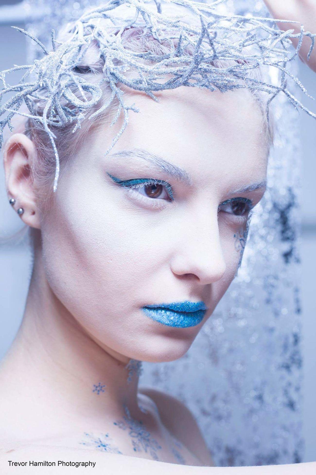 'Snow Queen' concept with Agi Sikorska. Portrait Beauty Make-up Close-up Human Face People Makeupartist Beauty EyeEm Best Shots