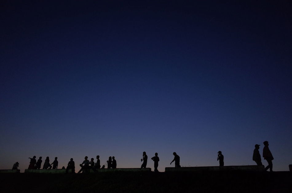 Beautiful stock photos of space, Building Exterior, Copy Space, Large Group Of People, Night