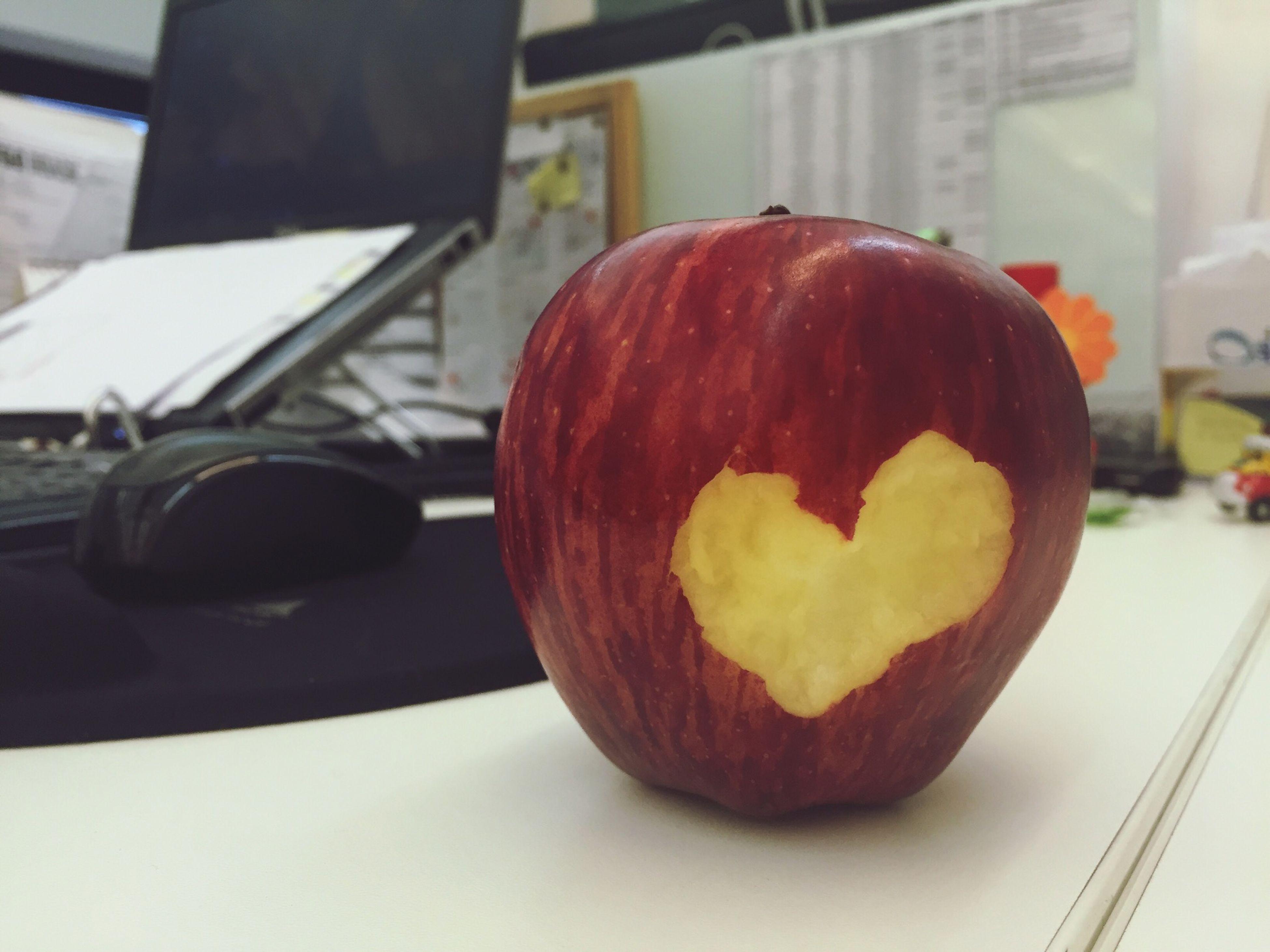 Apple Afternoon Snack! Love Shape Heart Fruit Bite