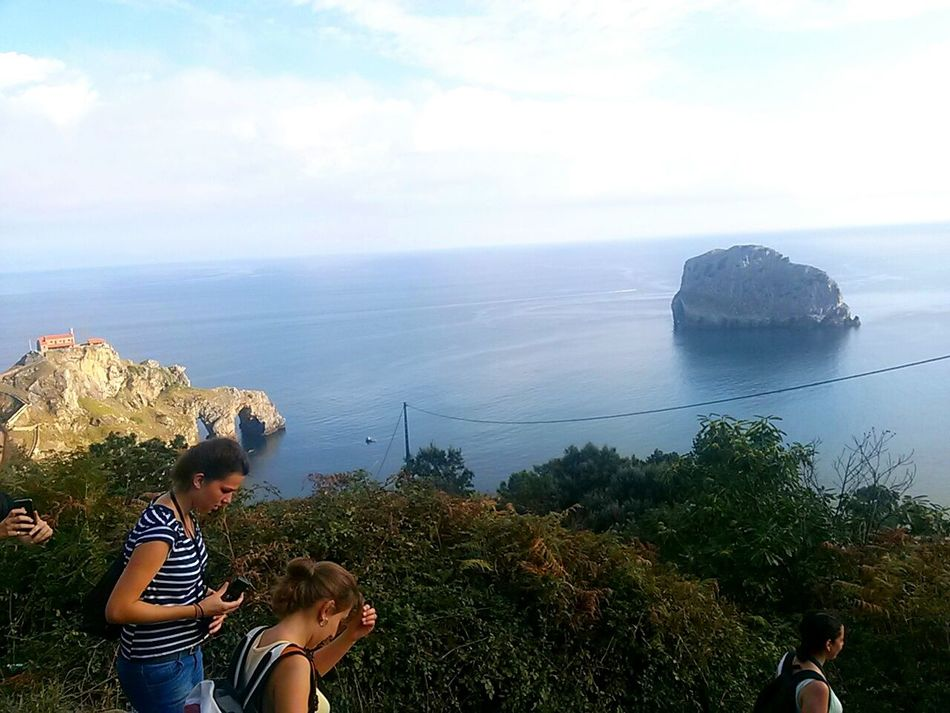 Sea Basque Country Mountains And Sky Water Blue Relaxation People Outdoors Happiness Two People Horizon Over Water Sky Vacations Beach Nature Exploration Adventures Vizcaya Mountains Hiking❤ Hiking Adventure Beauty In Nature Leisure Activity Miles Away