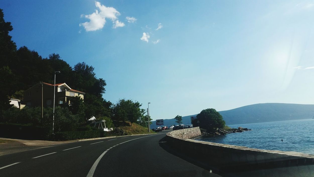 Escapetothenature Photography Is My Escape From Reality! Adriaticsea Montenegro Wild Beauty Adriatic Sea Sea And Sky Road To Nowhere