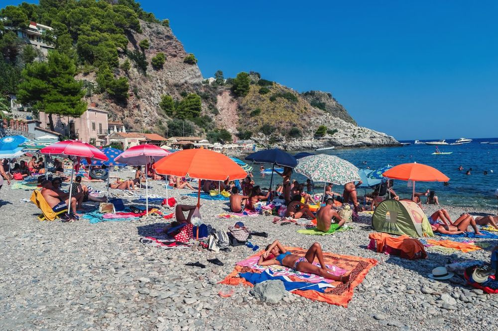 Beach Sand Summer Vacations Sea Outdoors Day Nature Tourism Tranquility Water No People Beauty In Nature Travel Destinations Multi Colored Scenics Horizon Over Water Sky Sicily Sicily, Italy Live For The Story Beach Life Umbrellas On The Beach Taormina Sicily Isola Bella Out Of The Box Place Of Heart The Street Photographer - 2017 EyeEm Awards The Great Outdoors - 2017 EyeEm Awards EyeEmNewHere