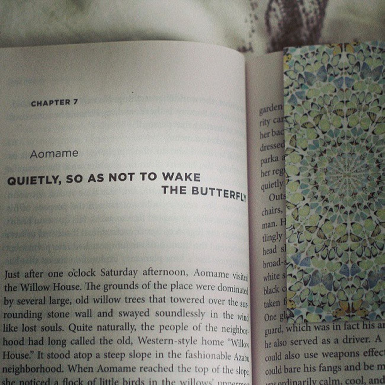 Perfect chapter-bookmark combo. Murakami Hirst