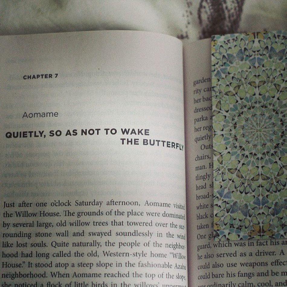 Perfect chapter-bookmark combo. Murakami Hirst
