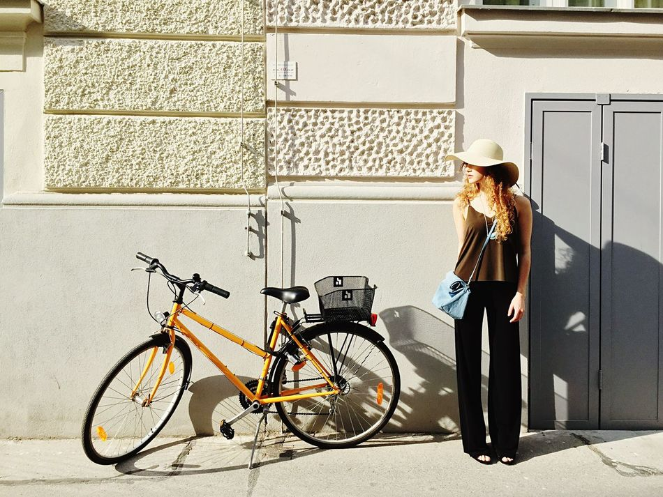Beautiful stock photos of bike, Architecture, Austria, Bicycle, Blond Hair