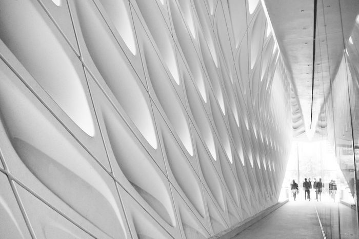 The Broad Museum Adult Architecture Art Built Structure Day Design Illuminated Indoors  Lifestyles Men People Real People The Broad The Way Forward Transportation Walking Women