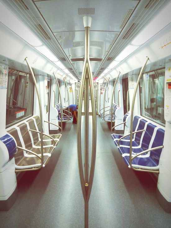 Being in a space station. Metro Barcelona Transportation
