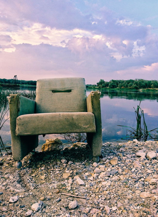Take your place Water Lake Sky Cloud Reflection Tranquility Nature Calm Cloud - Sky Outdoors Day Non-urban Scene Armchair Philosophy Armchair Magic Moments Magic Hour Magic Fantasy Fantastic Fantasy World Fantastic View Fantastic Day