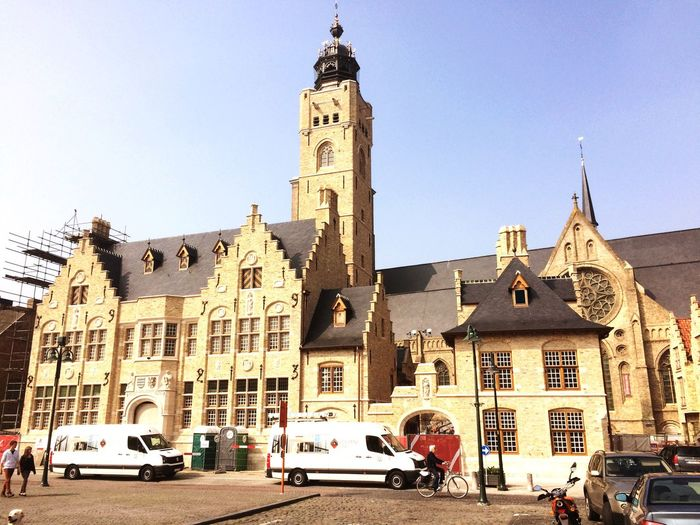 Check This Out Hello World Relaxing Taking Photos Enjoying Life Clouds And Sky Hanging Out Diksmuide Building Town Hall