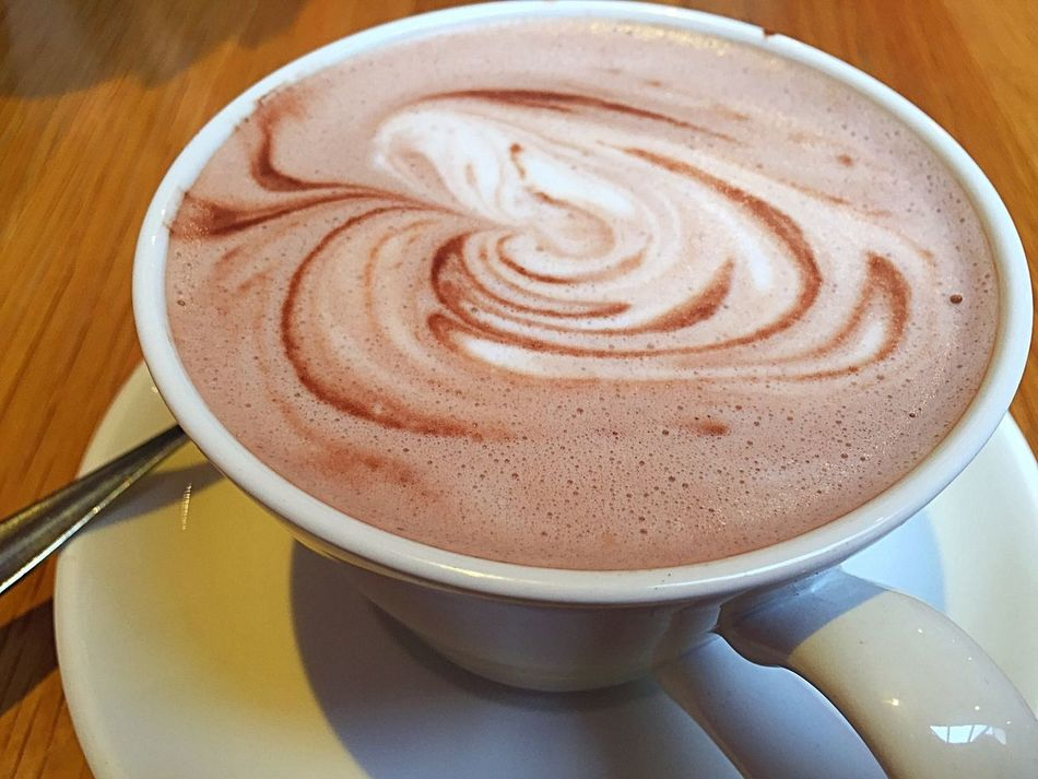 Hot chocolate Coffee Cup Coffee - Drink Drink Frothy Drink Refreshment Hot Chocolate Cappuccino Froth Art Coffee Break Indoors  Latte High Angle View Freshness Froth No People Close-up Day Mocha