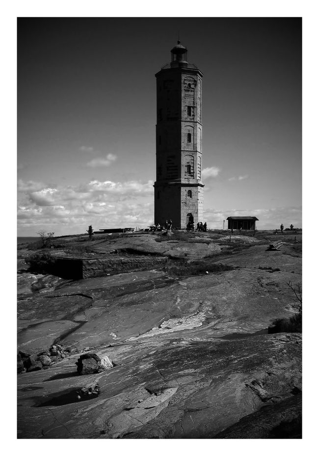 Söderskär Lighthouse Island Rock Archipelago Blackandwhite
