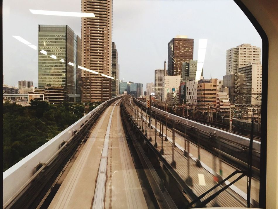 View on skyline of Tokyo from the monorail. Tokyo,Japan Skyline Monorail  Traveling
