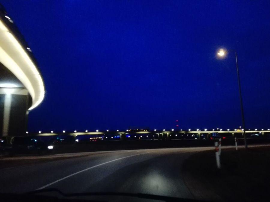 Transportation Car Interior Highway The Way Forward Car Road No People Outdoors Illuminated Night Travel Journey Sky