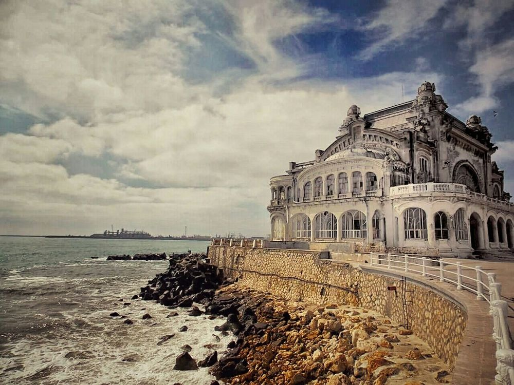 Cazino Constanta September Days Romania Relaxing Sunny Day Old Architecture