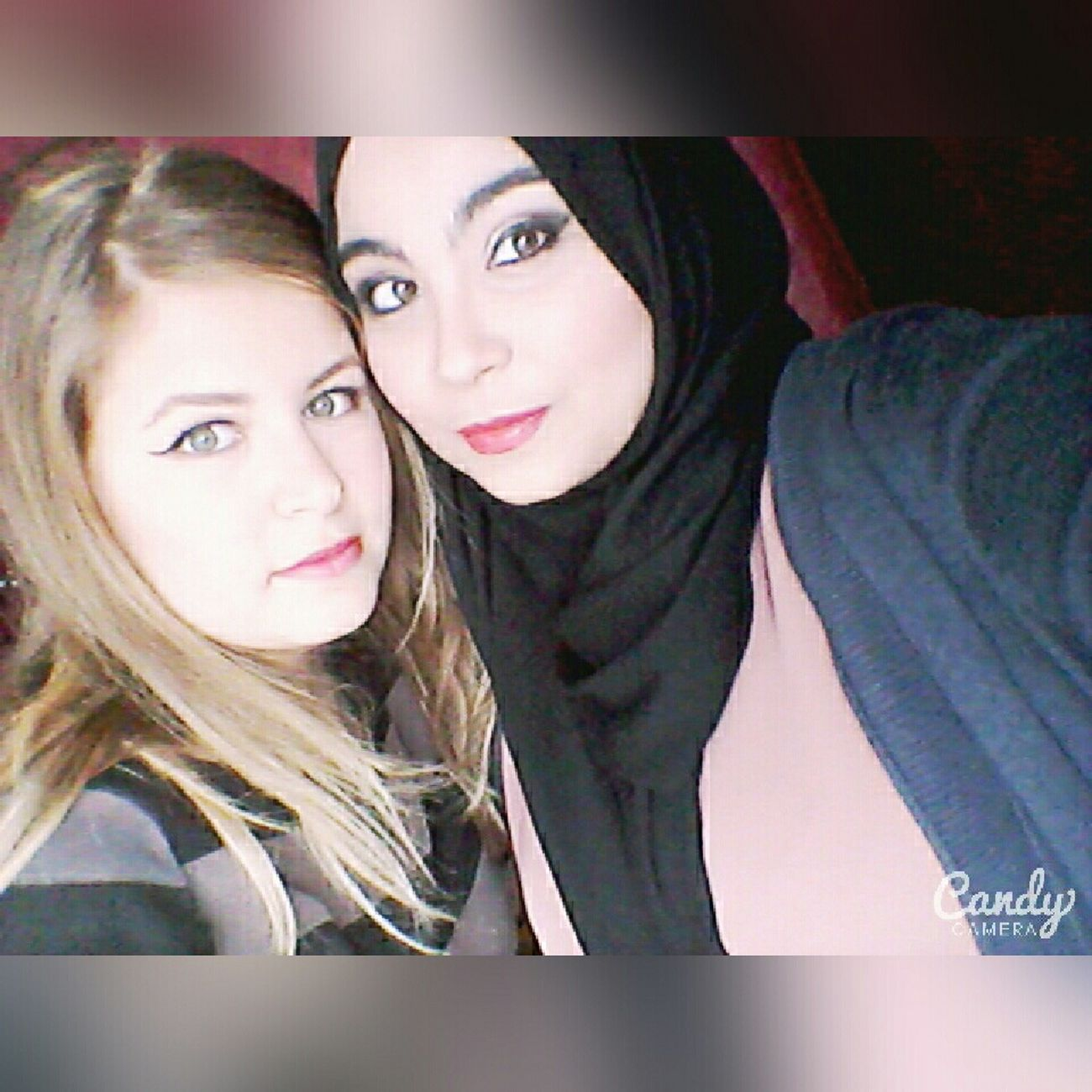 Meeting the georgous friend ever 💕 Btw she's a make up artist and the make up on me is done by her 👄💄 Makeup Smokey Eyes Friends ❤ Love 💝