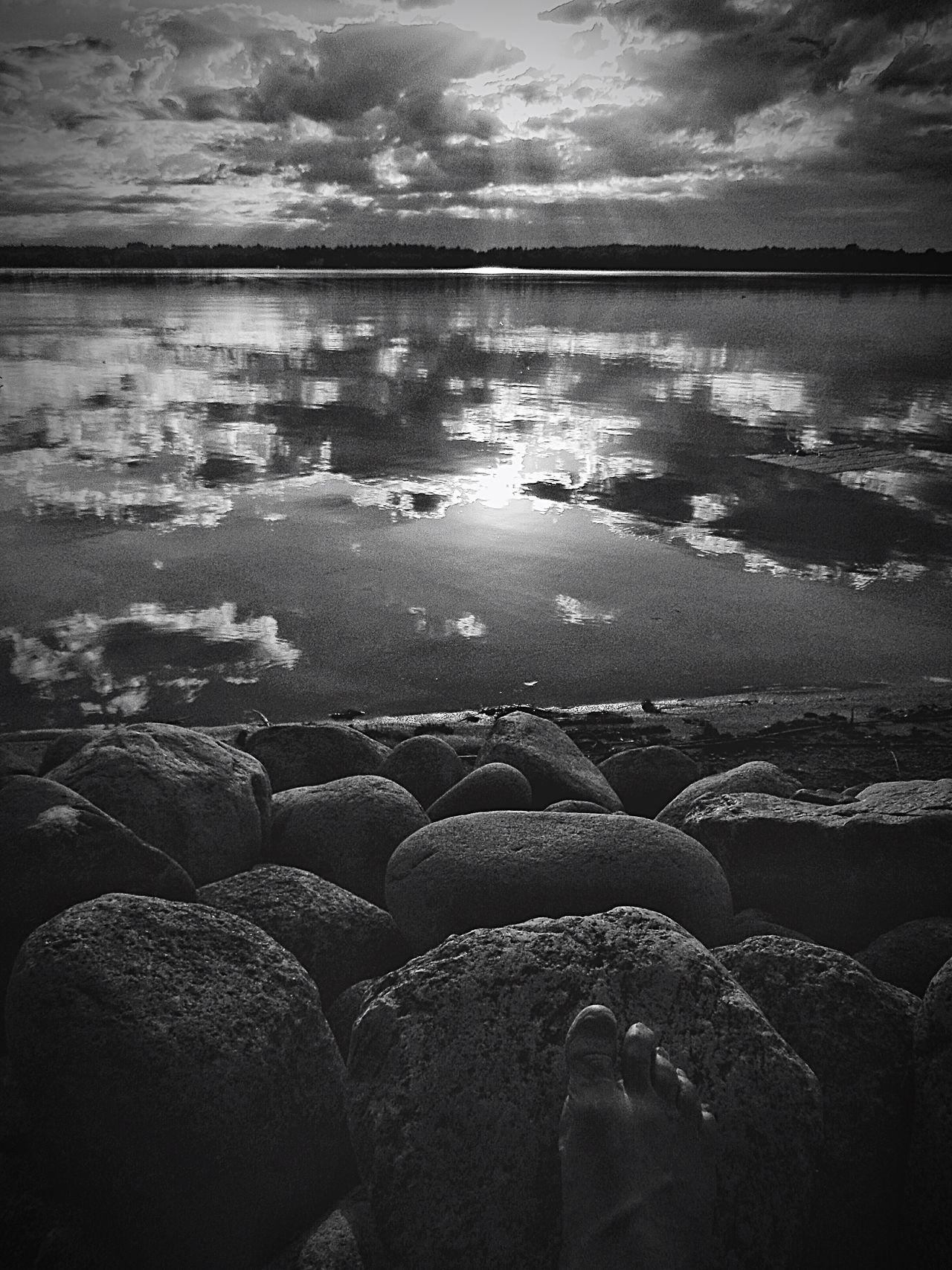Blackandwhite Photography Blackandwhite Foot Lake Bemidji Rocks And Water LakeReflection POV
