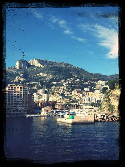 Harbour Panorama Monaco Sky And Sea