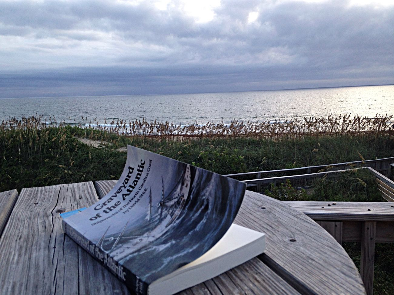 Reading this book next to the actual Graveyard of the Atlantic. OBX14 Reading Books