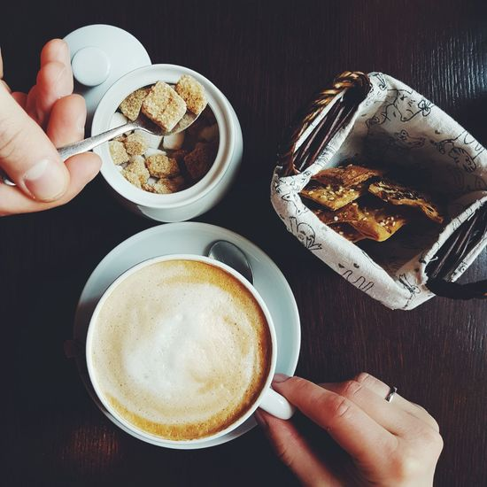 Human Hand Human Body Part Adults Only Drink People Food And Drink Adult Holding Indoors  Close-up Day Lunch Break Lunch Time Cappuccino Cup Coffee Cup Coffee - Drink Coffee Coffee Time Coffee Shop Coffeeaddict Coffeelover Coffeebreak CappuccinoCoffee Latte