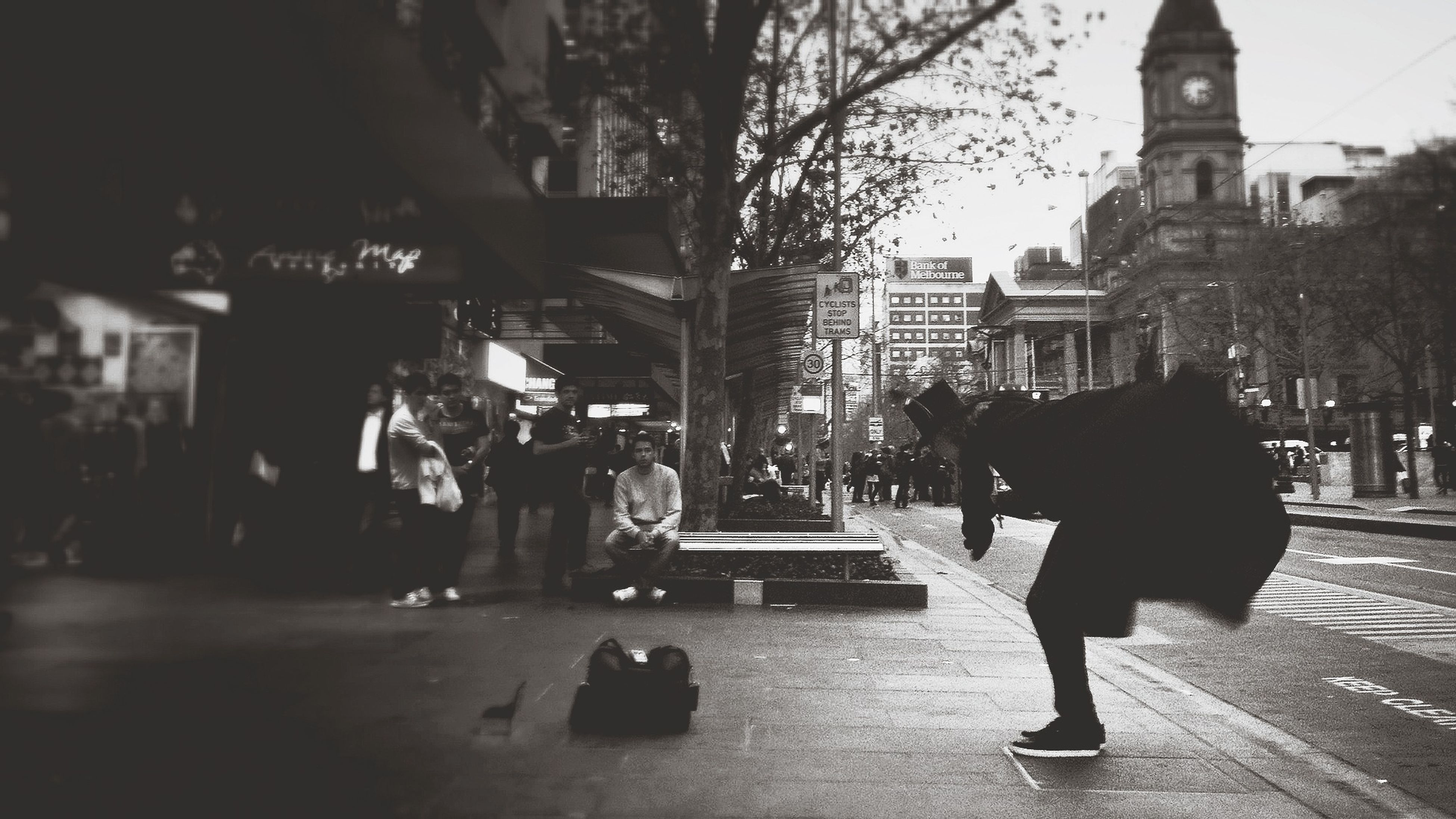 Dramatic Street Performers abound in Melbourne. procamera + capa filter Shootermag AMPt_community Streetphotography Impossible Moments
