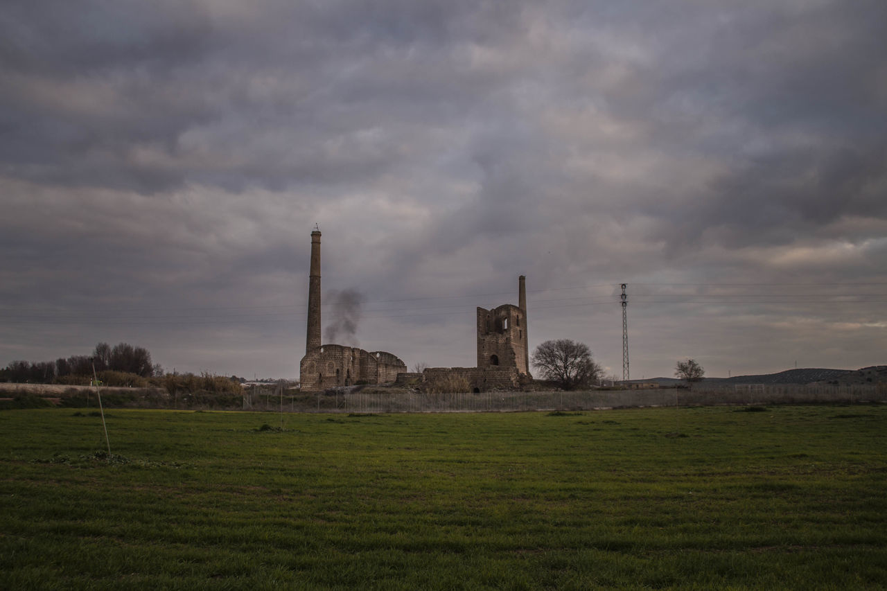 Architecture Arquitectura Industrial Built Structure Cloud - Sky Day Environment Grass Heritage Landscape Linares Minería Minería De Linares Mining Heritage Nature No People Outdoors Patrimoine Industriel Patrimonio Industrial Sky Storm Cloud