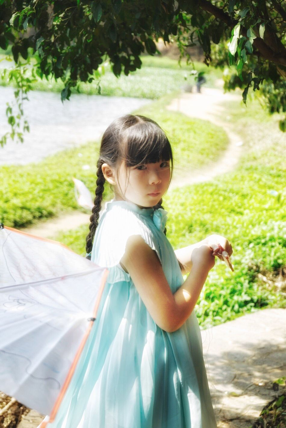 My little fairies❤️ Child One Girl Only Childhood One Person Children Only Side View Outdoors Girls Nature Day Portrait Standing Looking Down Tree People Smiling Flying A Kite Spring Nature Countryside