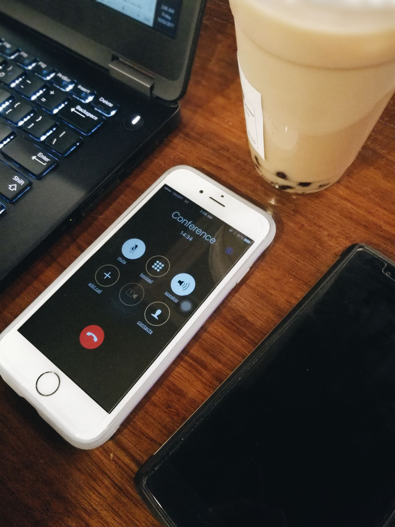 Conference Mobile Conversations IPhone Apple Mobile Phone Conference Conference Call Connected Call Meeting Telecommuting Work From Home