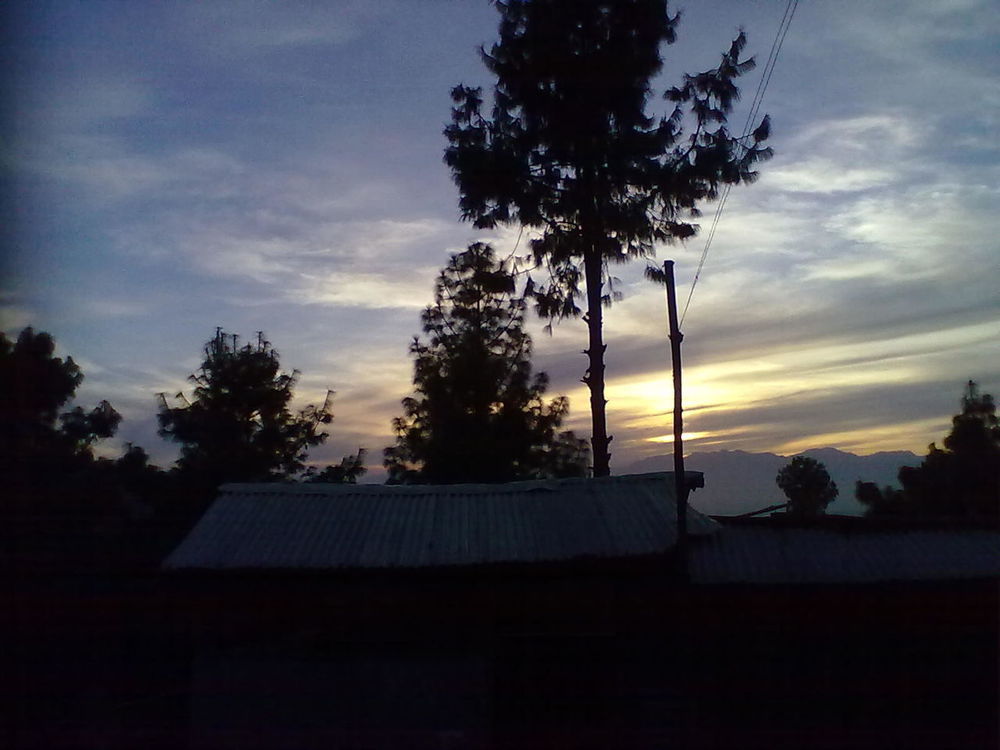 Tree Cloud - Sky Sunset Sky No People Nature Outdoors Beauty In Nature Travel Destinations Tinge Dusk Colors Nepal Tourism Forest EyeEmNewHere