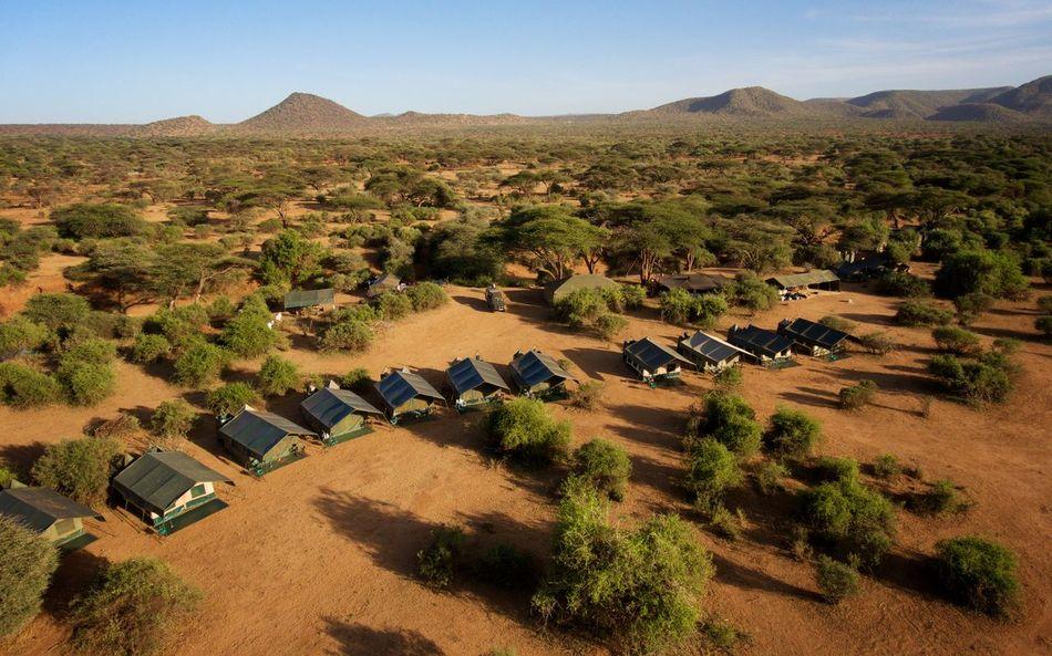 Safari Camp on the Kenya savanna. Acacia Africa Camp Day Dji Phantom Droneshot High Angle View Isiolo Kenya Landscape Nature No People Outdoors Safari Savanna Tents Tranquility First Eyeem Photo
