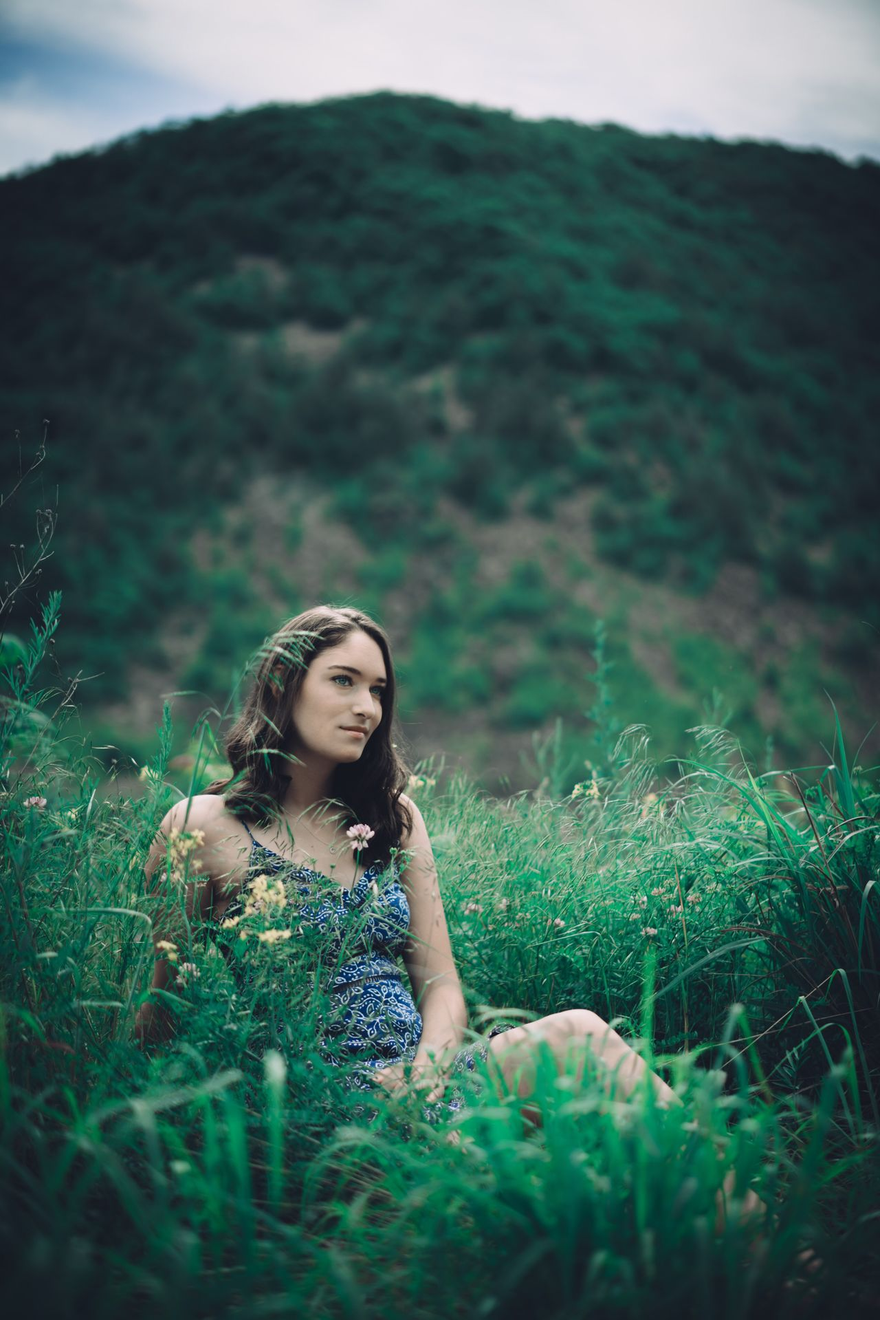 Grass One Person Young Adult Outdoors Field Nature Beautiful Woman Young Women Leisure Activity Day Plant Landscape Beauty In Nature Sitting Women Sky Close-up People The Great Outdoors - 2017 EyeEm Awards