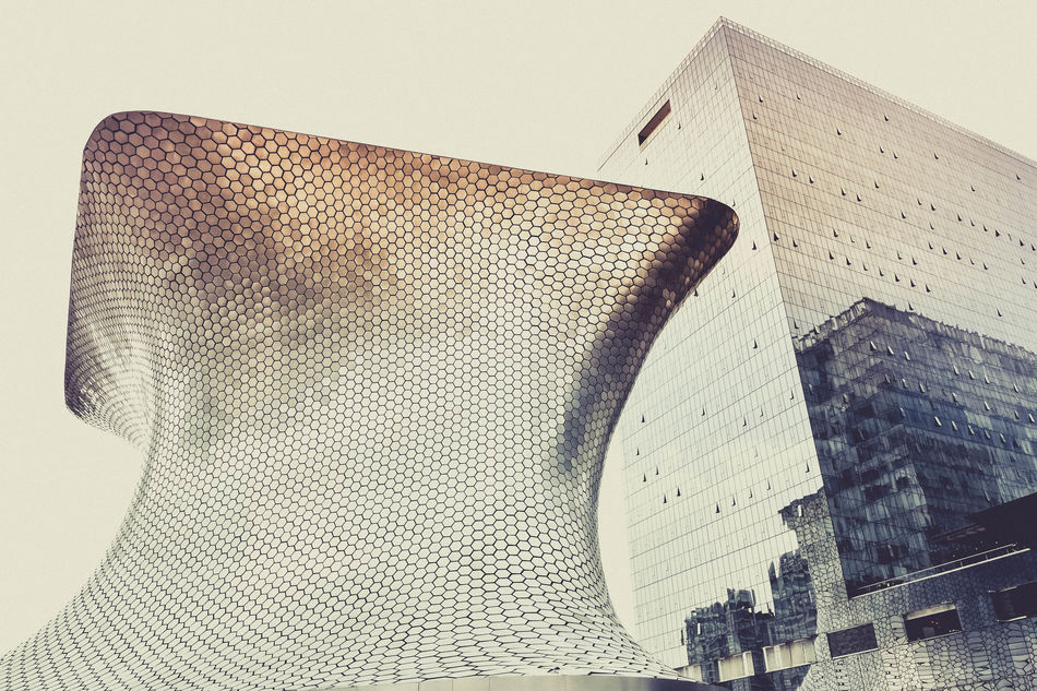 Emerging Architecture Building Exterior Built Structure Close-up Day EyeEm EyeEm Best Shots Indoors  Low Angle View Mexico Modern Modern Architecture Museum No People Reflections Retro Sepia Sky
