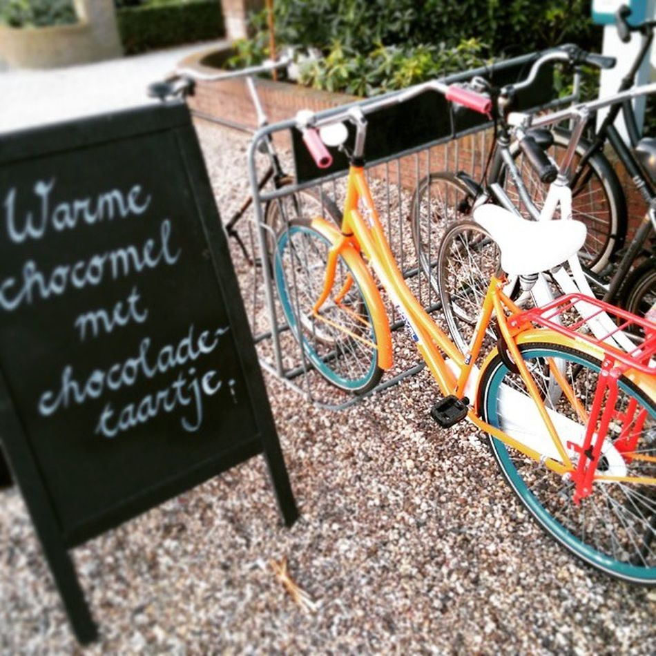 Warme Chocomel met chocolade Tartje ...but I prefer the Bicycle ! Cycling Igercycling Cycleporn Cyclist Instabike Bici Cyclingfans Cyclingrace Cyclo Cyclisme Bicicleta Fietsen Fiets