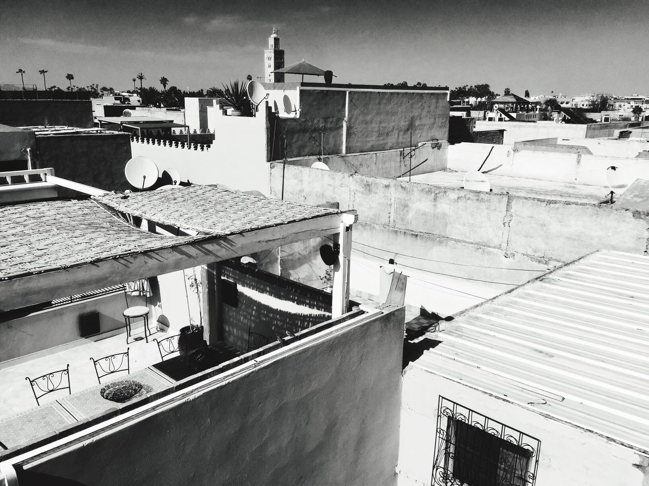 Built Structure Architecture Building Exterior Roof House Day High Angle View Outdoors Residential Building No People Sky Tiled Roof  Marrakech