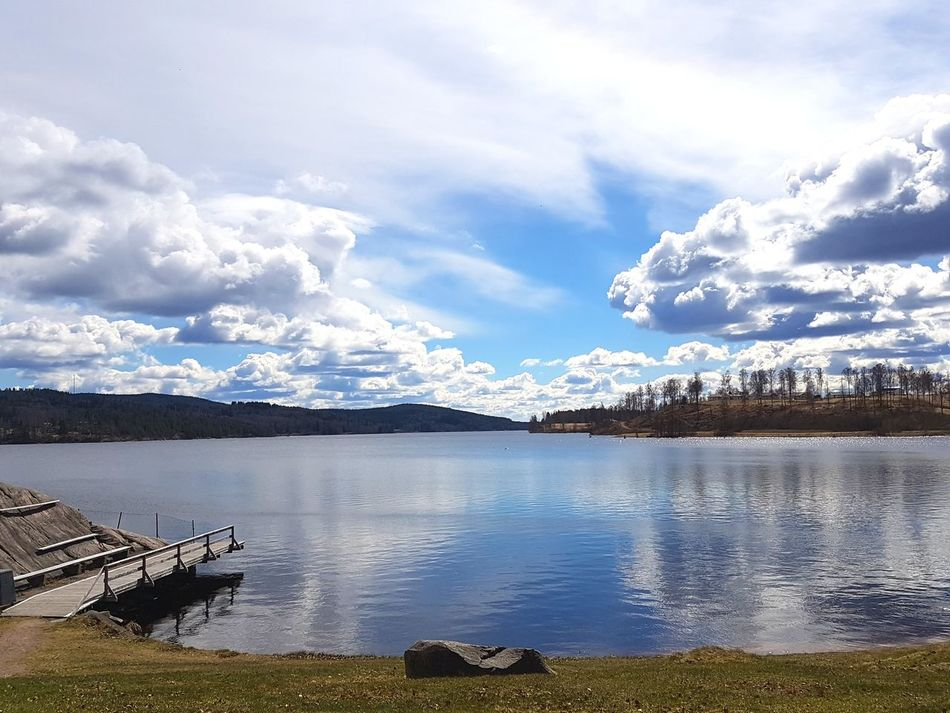 Taking Photos Enjoying The Sun Beautiful Day Swedish Nature Lake Sweden April2017 Blue Water Blue Sky Close To Nature Samsung Galaxy S7 Moment Of Silence Walking Around