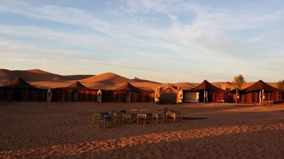 Sunrise Desert Sunrise Desert Mhamid Morocco Maroc Deserts Around The World Desert Beauty Beautiful Places Shadow Sunlight A Bird's Eye View Bivouac No Filter No Effects EyeEmNewHere