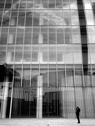 L O O K I N G • U P Real People Built Structure Standing Architecture Street My Photography Monochrome My Point Of View Black And White Person Streetphotography Outdoors Followme Like