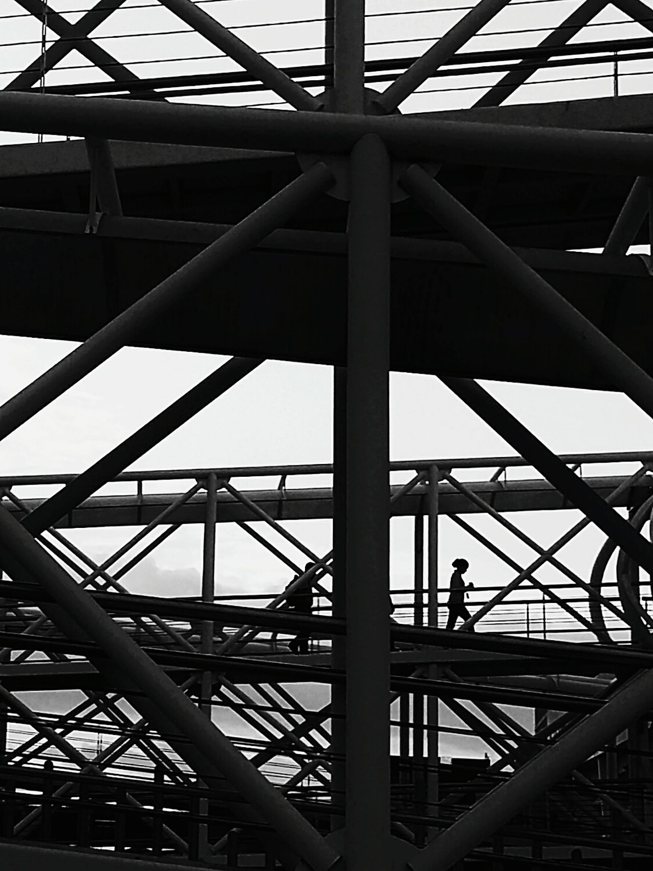 Day Built Structure Architecture Outdoors Sky No People Bridge - Man Made Structure Street Photography Streetphotography Urban Exploration Urban Geometry Blackandwhite Black And White Monochrome