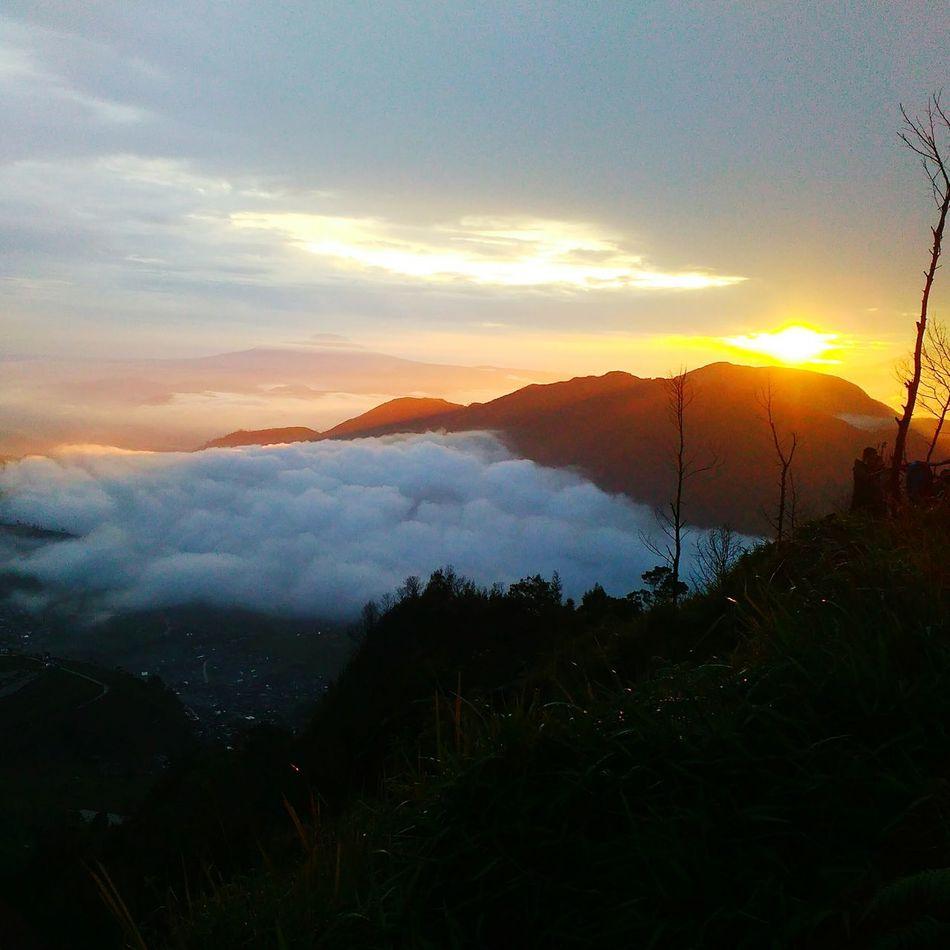 Sunrise And Clouds Mountain Beauty Beauty In Nature Yellow Nature Landscape Nature Photography Wonosobohitz Wonosoboasri INDONESIA First Eyeem Photo Cloud - Sky Indonesia Culture Travel Outdoors GoldenSunrise