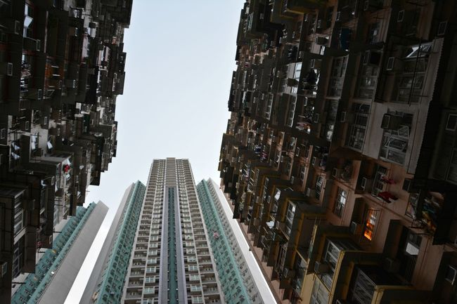 Architecture Building Exterior Built Structure City Cityscape Clear Sky Day Hong Kong HongKong Horizontal No People Outdoors Quarry Quarry Bay Residential Building Sky Skyscraper Travel Travel Destinations Urban Skyline