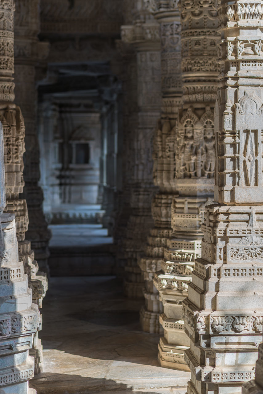 built structure, architecture, history, carving - craft product, place of worship, building exterior, religion, sculpture, spirituality, statue, day, architectural column, travel destinations, no people, ancient, ancient civilization, indoors