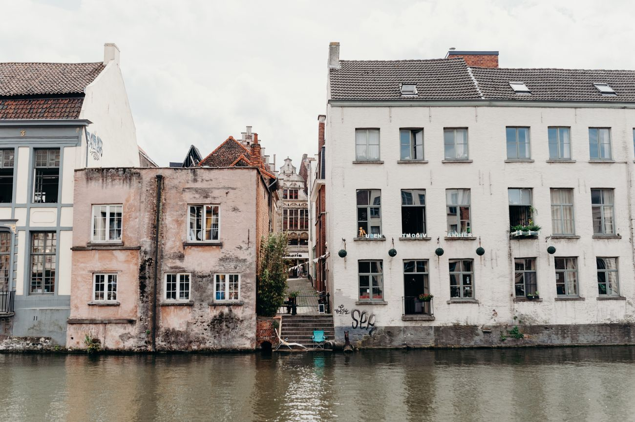 Gent, Belgium Architecture Building Exterior Built Structure House Day Water Outdoors Residential Building No People Window Sky City The Street Photographer - 2017 EyeEm Awards Live For The Story EyeEmNewHere Eye4photography  Check This Out The Portraitist - 2017 EyeEm Awards Vscocam Cityscape The Architect - 2017 EyeEm Awards Gent Belgium City Life Citylife