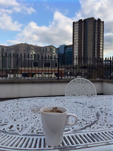 unfinish coffee... Photography By @jgawibowo Arif Wibowo Photoworks Shot By @jgawibowo Shot By Arif Wibowo Property Of Arif Wibowo Trip To London My Trip To London Travel Photography Architecture Cloud - Sky Cityscape Sky Building Exterior City No People