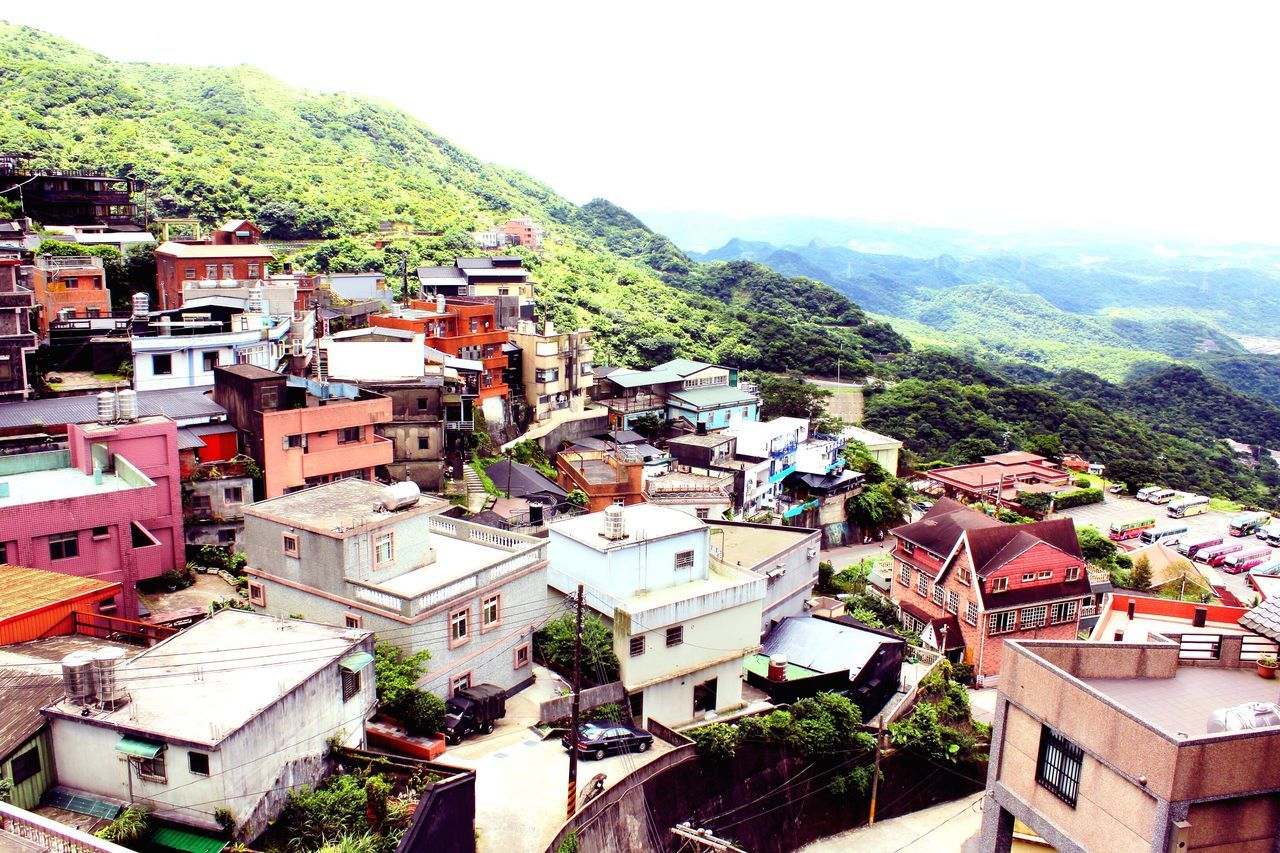 Flying High Taiwan Jiufen Facing The Ocean Hills Hill Houses Morning Light Concrete Houses Shades Of Nature Greenery Flying High View From Above
