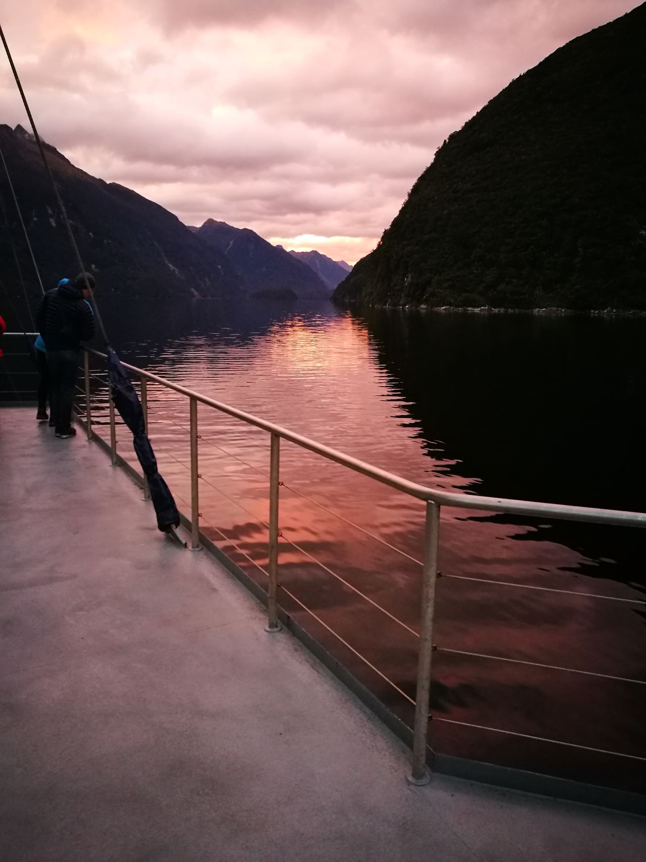 Water Lake Mountain Outdoors Beauty In Nature Reflection Doubtful Sound Sunrise New Zealand