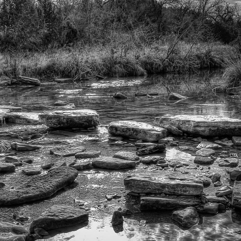 The Rocks in the River Texas Latergram Dinosaurvalley Blackandwhite