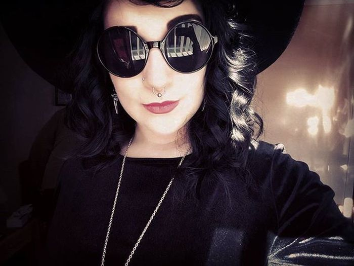 Bless it be Lydiadeetz Lydia Beetlejuice Girlwithtattoos  Girlwithpiercings Nakedlobes Alternative Goth Grungegoth Grunge Wewearblack Dark Blessitbe Wicca  Witch Bold Gothicgirl Photooftheday Outfitoftheday