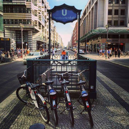 Favorite Streets of Berlin series: Friedrichstrasse in Mitte . Shopping mile, busy, touristy yet it holds its Charms !