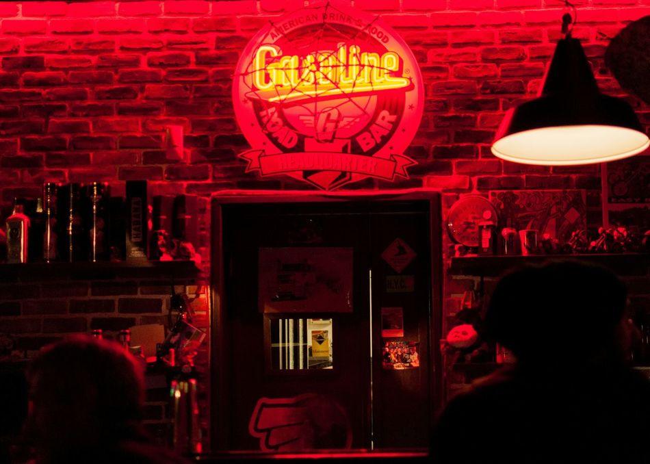 A Red light. Pub Grub Red Pub People Peoplephotography People Photography Backlight Red Light