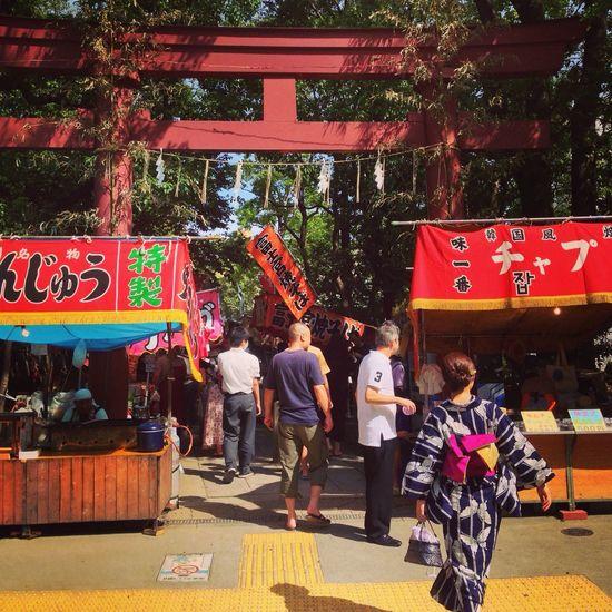 富岡八幡宮。祭りなので人が凄い。 Japan People