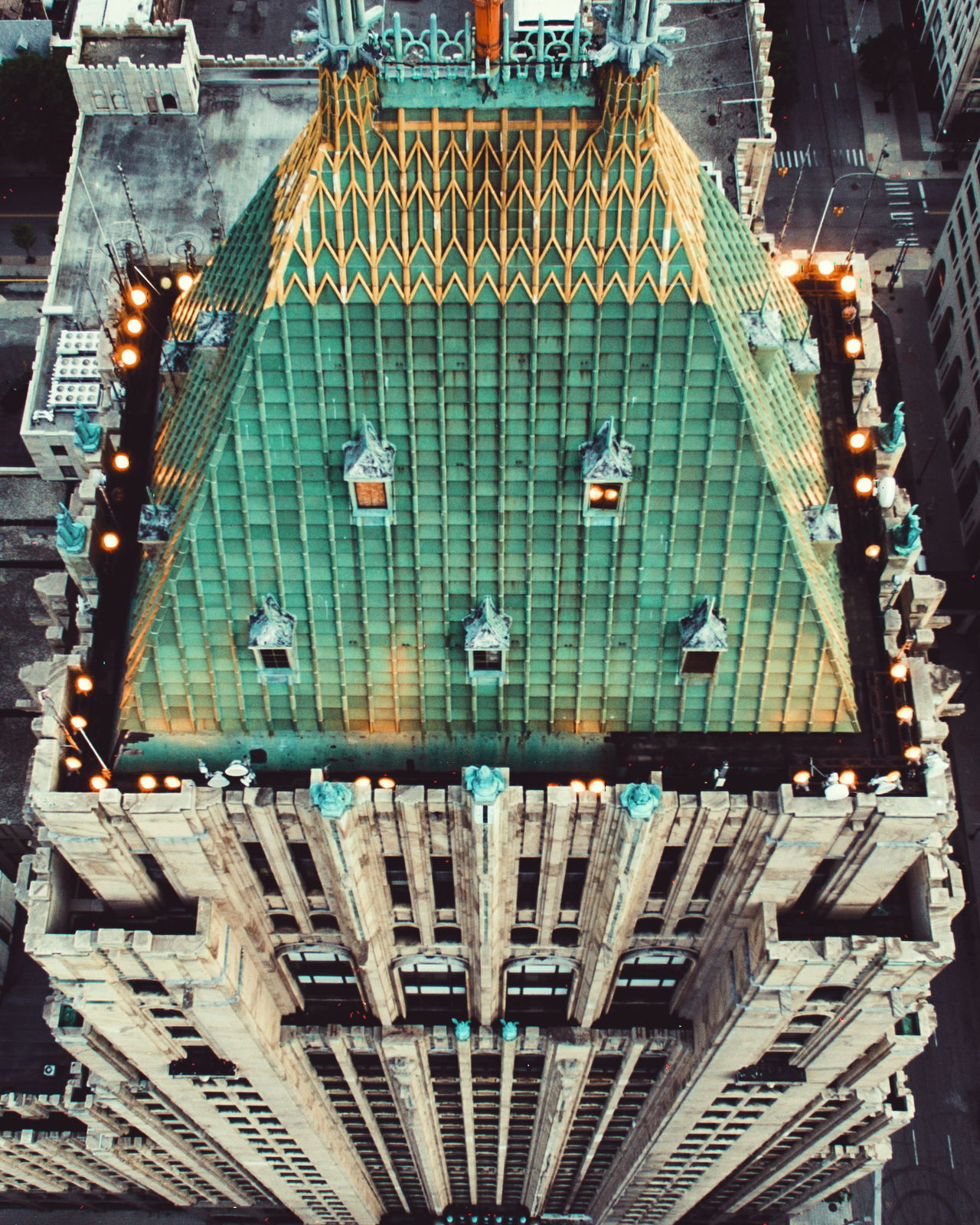 Beautiful stock photos of detroit, Detroit, Famous Place, Fisher Building, High Angle View